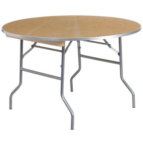 """48"""" Round Birchwood Folding Banquet Table 