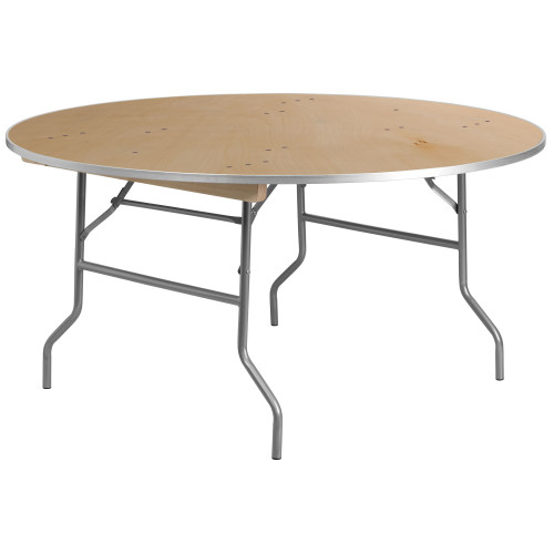 "60"" Round Birchwood Folding Banquet Table 
