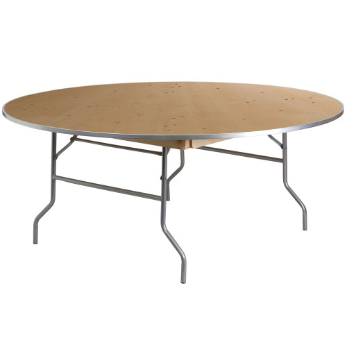 "66"" Round Birchwood Folding Banquet Table 