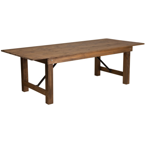 Farmhouse Table | 40x84 Rustic Pine | Wooden Folding Table