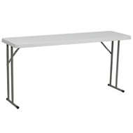 Advantage 5 Ft. Granite White Plastic Folding Training Table [RB-1860-GG]