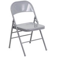 Advantage Gray Metal Folding Chair [HF3-MC-309AS-GY-GG]