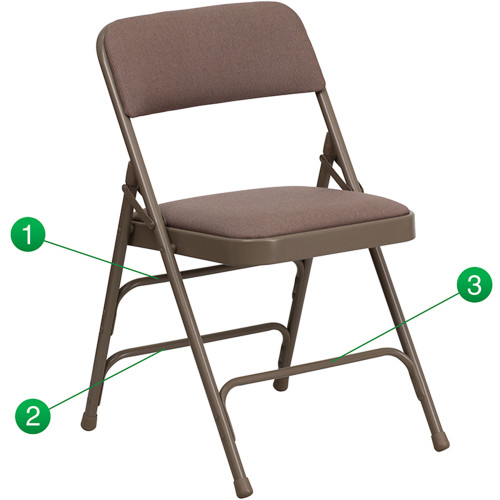 Metal Folding Chairs | Beige Padded Folding Chairs