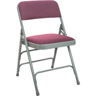Metal Folding Chairs | Burgundy Padded Folding Chairs