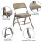 Beige Vinyl Padded Folding Chairs | Metal Folding Chairs