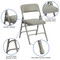 Metal Folding Chairs | Gray Vinyl Padded Folding Chairs