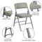 Metal Folding Chairs   Gray Vinyl Padded Folding Chairs