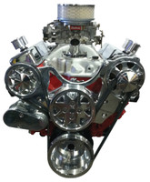 Billet Serpentine System Small Block Chevy W/O AC & PS; Polished Finish - All American Billet FDS-SBC-104