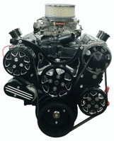 Billet Serpentine System Small Block Chevy W/ AC & PS; Silverline Series - All American Billet FDS-SBC-201