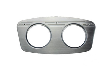 1933 Ford Billet Dash Insert Ball Milled W/ 2 Gauge Holes; Machined Finish W/ Clear Anodized - All American Billet MT62ANB