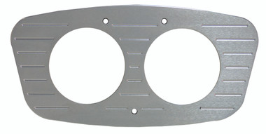 1933 Ford Billet Dash Insert Ball Milled W/ 2 Gauge Holes; Machined Finish - All American Billet MT62RB