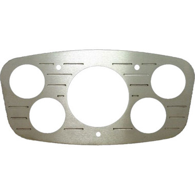 1933 Ford Billet Dash Insert Ball Milled W/ 5 Gauge Holes; Machined Finish W/ Clear Anodized - All American Billet MT63ANB