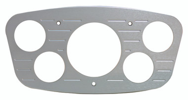 1933 Ford Billet Dash Insert Ball Milled W/ 5 Gauge Holes; Machined Finish - All American Billet MT63RB