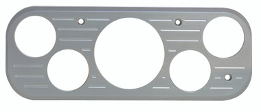 1937 GMC Billet Dash Insert Ball Milled W/ 5 Gauge Holes; Machined Finish W/ Clear Anodized - All American Billet MT67ANB