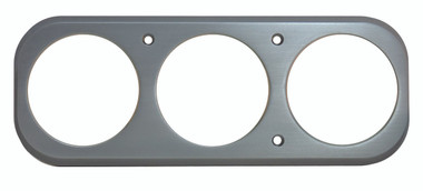 1937 GMC Billet Dash Insert Ball Milled W/ 3 Gauge Holes; Machined Finish W/ Clear Anodized - All American Billet MT68ANP