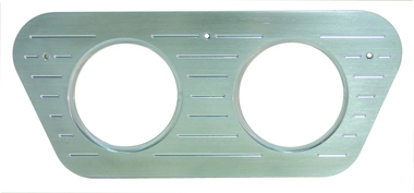 1953 Ford F100 Billet Dash Insert Ball Milled W/ 2 Gauge Holes; Machined Finish - All American Billet MT73RP
