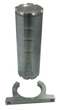 Billet Power Steering Reservoir; Machined Finish - All American Billet PSR-M
