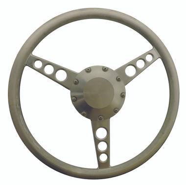 "Billet 14"" Diameter Classic Steering Wheel; Polished Finish - All American Billet 4501-P"