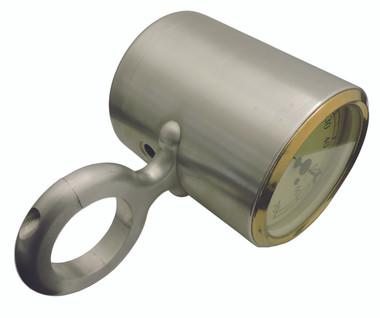 """Billet Tach Cup For 1.75"""" Diameter Columns Fits VDO Gauges; Polished Finish - All American Billet 461752-P"""