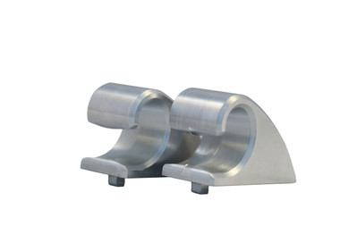 Billet Sun Visor Hooks (Pair); Machined Finish - All American Billet VH01