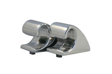 Billet Sun Visor Hooks (Pair); Polished Finish - All American Billet VH01-P