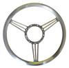 "Billet 14"" Diameter Banjo Steering Wheel; Machined Finish - All American Billet 4502"
