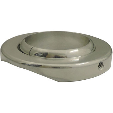 "Billet Zero Clearance Floor Mount For 2.25"" Column; Machined Finish - All American Billet 440225"