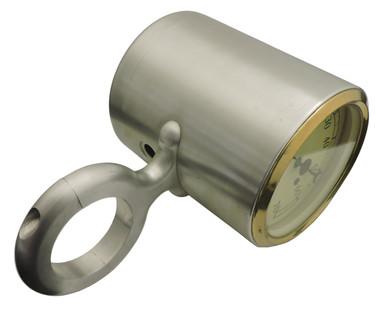 "Billet Tach Cup For 1.75"" Diameter Columns Fits Stewart Warner Gauges; Machined Finish - All American Billet 461751"