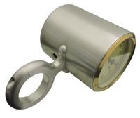 "Billet Tach Cup For 1.75"" Diameter Columns Fits VDO Gauges; Machined Finish - All American Billet 461752"