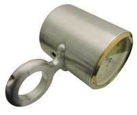 "Billet Tach Cup For 2.375"" Diameter Columns Fits Stewart Warner Gauges; Machined Finish - All American Billet 4623751"