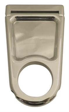 "Billet 4"" Column Drop For 2"" Dia. Column W/ Closed Window; Polished Finish - All American Billet 4320043-P"