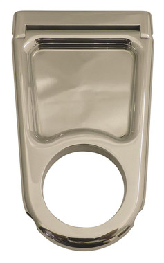 "Billet 4"" Column Drop For 2.25"" Dia. Column W/ Closed Window; Polished Finish - All American Billet 4322543-P"
