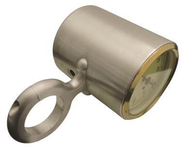 "Billet Tach Cup For 2"" Diameter Columns Fits Auto Meter Gauges; Polished Finish - All American Billet 462004-P"
