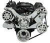 Billet Serpentine System Small Block Chrysler W/ AC & W/O PS; Polished Finish - All American Billet FDS-318-102