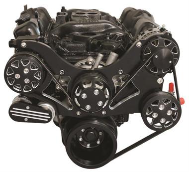 Billet Serpentine System Small Block Chrysler W/ AC & W/O PS; Silverline Series - All American Billet FDS-318-202