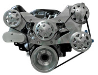 Billet Serpentine System Small Block Chrysler W/ AC & W/O PS; Machined Finish - All American Billet FDS-318-302