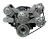 Billet Serpentine System Small Block Chrysler W/O AC & W/ PS; Machined Finish - All American Billet FDS-318-303
