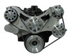 Billet Serpentine System Big Block Chevy W/ AC & PS; Machined Finish - All American Billet FDS-BBC-301