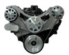 Billet Serpentine System Big Block Chevy W/ AC & W/O PS; Machined Finish - All American Billet FDS-BBC-302