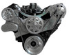 Billet Serpentine System Big Block Chevy W/O AC & PS; Machined Finish - All American Billet FDS-BBC-304