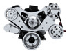 Billet Serpentine System Ford 289/302 W/O AC & W/ PS; Polished Finish - All American Billet FDS-SBF-103