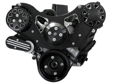 Billet Serpentine System Ford 289/302 W/ AC & W/O PS; Silverline Series - All American Billet FDS-SBF-202