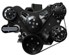 Billet Serpentine System Ford 289/302 W/O AC & W/ PS; Silverline Series - All American Billet FDS-SBF-203