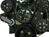 Billet Serpentine System LS1, LS2, LS3 & LS6 W/ Tuff Stuff Water Pump; Silverline Supreme Series, Black - All American Billet FDS-LS-501