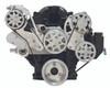 Billet Serpentine System LS7 W/ Tuff Stuff Water Pump; Machine Finish - All American Billet FDS-LS7-301