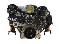 Billet Serpentine System LS7 W/ Edelbrock Water Pump; Silverline Series - All American Billet FDS-LS7-201-E