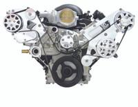 Billet Serpentine System LSX W/ Tuff Stuff Water Pump; Polished Finish - All American Billet FDS-LSX-101