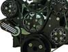 Billet Serpentine System LSX W/ Tuff Stuff Water Pump; Silverline Supreme Series, Black - All American Billet FDS-LSX-501