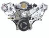 Billet Serpentine System LSX W/ Edelbrock Water Pump; Polished Finish - All American Billet FDS-LSX-101-E