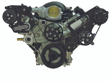 Billet Serpentine System LSX W/ Edelbrock Water Pump; Silverline Series - All American Billet FDS-LSX-201-E